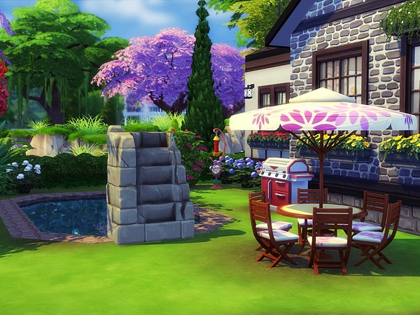 Stone Walls big house in Tudor style by MychQQQ at TSR image 419 Sims 4 Updates