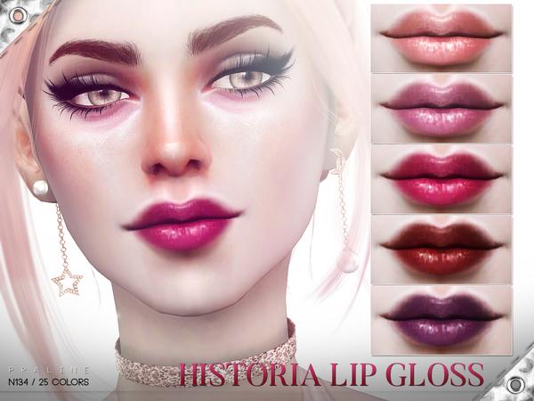 Sims 4 Historia Lip Gloss N134 by Pralinesims at TSR