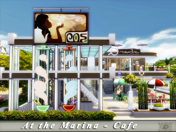 Sims 4 At the Marina Cafe by Danuta720 at TSR