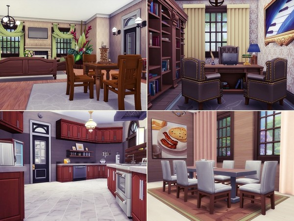 Stone Walls big house in Tudor style by MychQQQ at TSR image 425 Sims 4 Updates