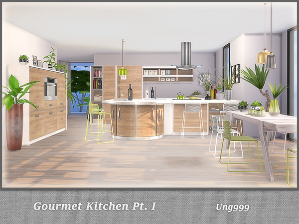 Gourmet Kitchen Pt. I by ung999 at TSR image 4315 Sims 4 Updates
