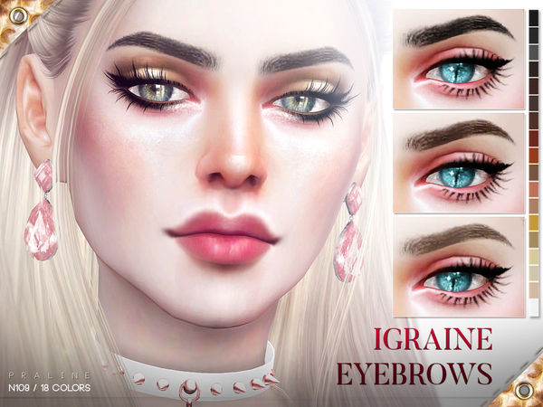 Igraine Eyebrows N109 by Pralinesims at TSR image 441 Sims 4 Updates