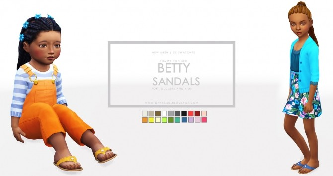 Sims 4 TH Betty T Strap Sandals at Onyx Sims