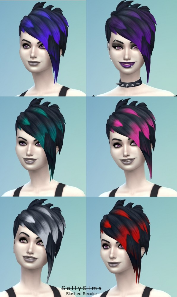 Slashed Vampire Hair Recolor by SallySims at Mod The Sims image 4413 596x1000 Sims 4 Updates