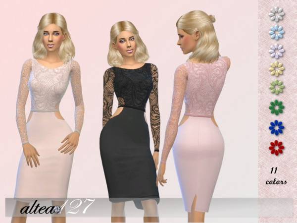 Sims 4 Sophy dress by altea127 at TSR