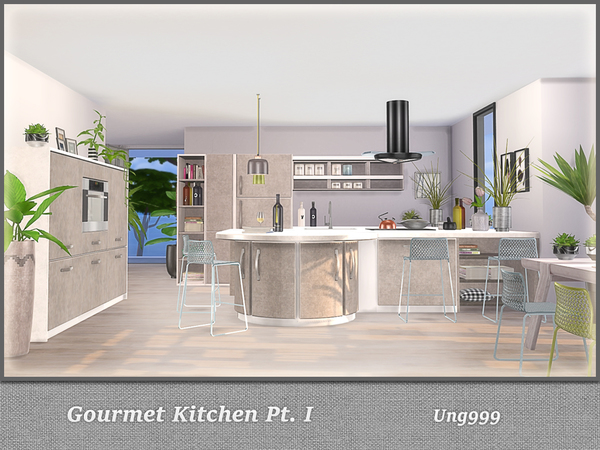 Gourmet Kitchen Pt. I by ung999 at TSR image 4415 Sims 4 Updates