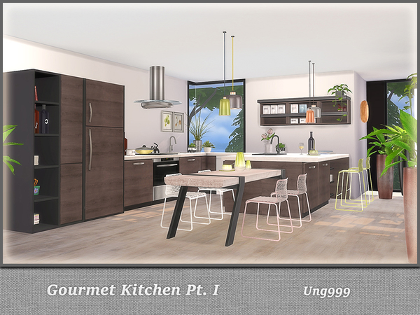 Gourmet Kitchen Pt. I by ung999 at TSR image 4514 Sims 4 Updates