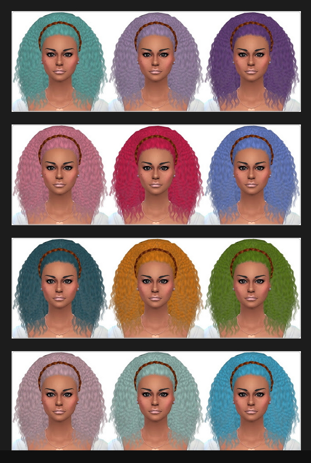 Sims 4 Monster Madness Hair Recolors at Annett's Sims 4 Welt