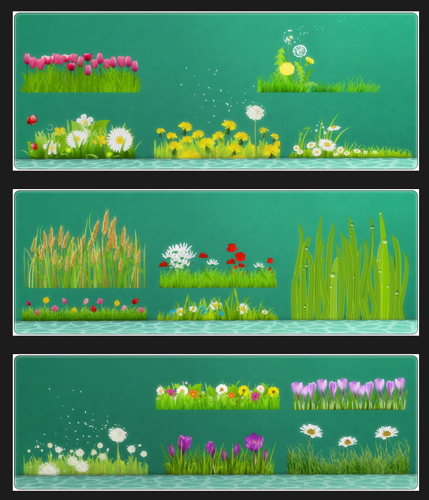 Wall Deco Field & Grass at Annett's Sims 4 Welt image 4641 Sims 4 Updates