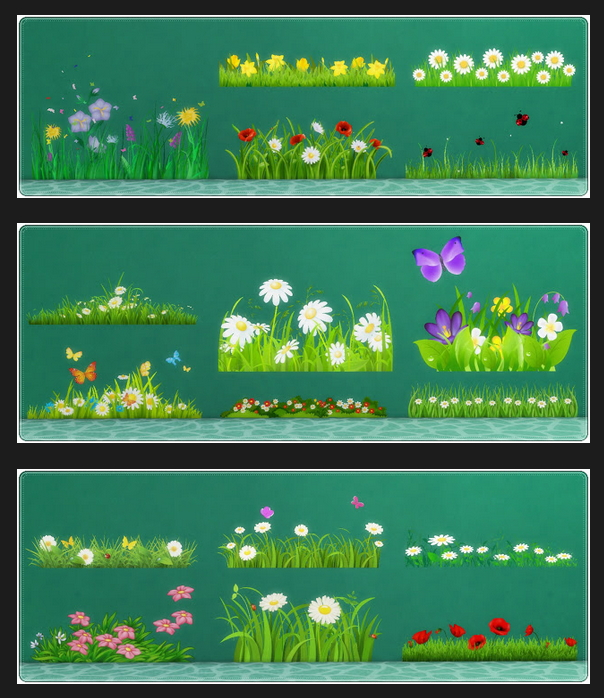 Wall Deco Field & Grass at Annett's Sims 4 Welt image 4651 Sims 4 Updates