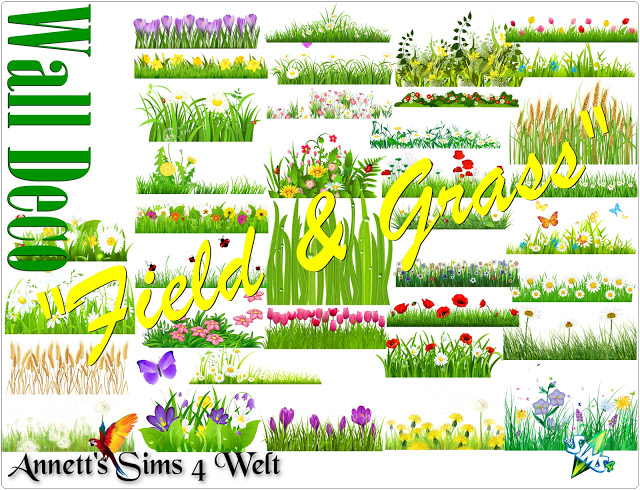 Wall Deco Field & Grass at Annett's Sims 4 Welt image 466 Sims 4 Updates