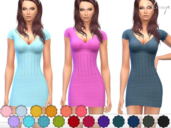 Knit Mini Dress by ekinege at TSR image 47111 Sims 4 Updates