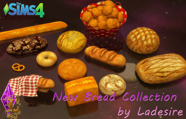 Sims 4 New Bread Collection at Ladesire