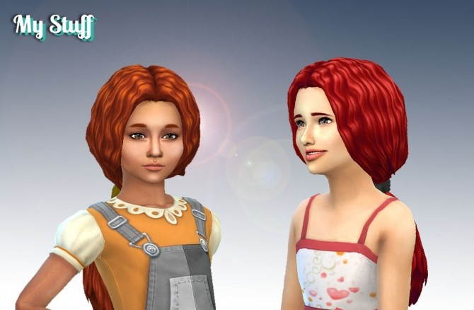 Sims 4 Waves Ponytail for Girls at My Stuff