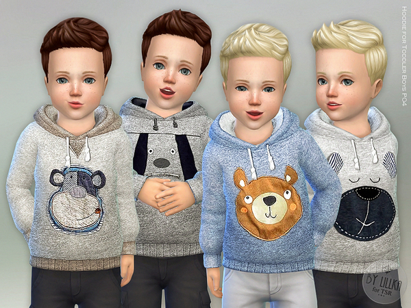 Sims 4 Hoodie for Toddler Boys P04 by lillka at TSR