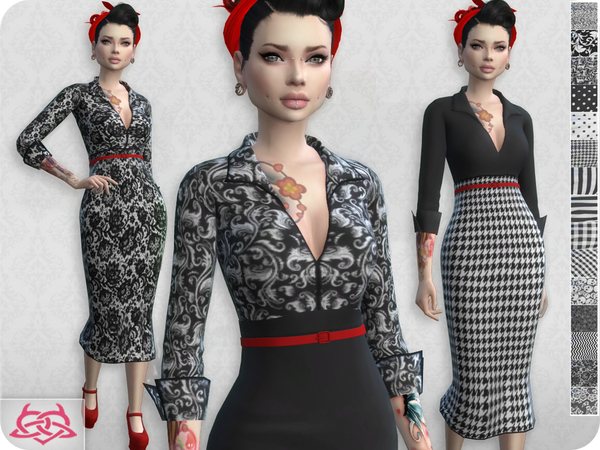 Sims 4 Set Blouse / Skirt RECOLOR 1 by Colores Urbanos at TSR