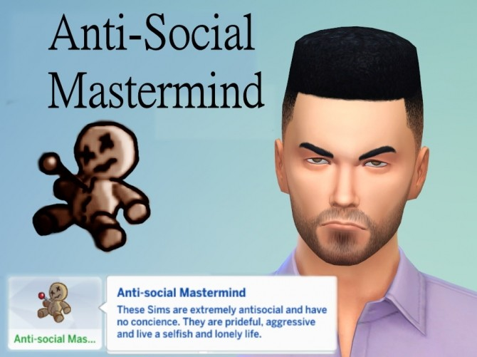 Sims 4 Anti Social Mastermind by Kialauna at Mod The Sims