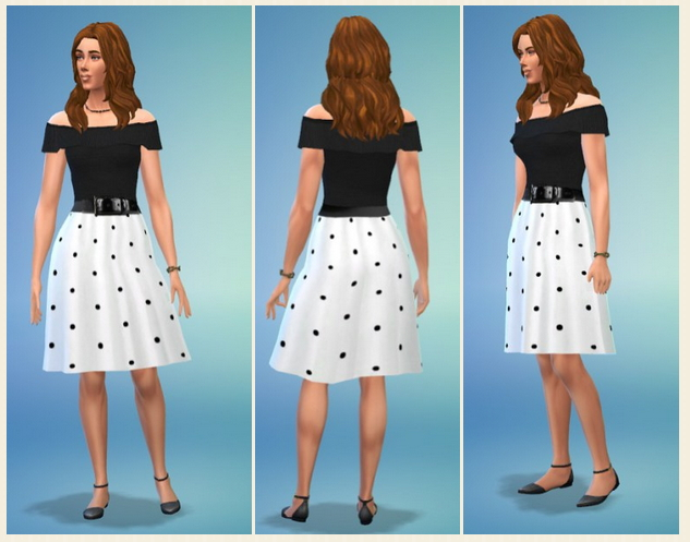 Lady's Dot Dress at Birksches Sims Blog image 4941 Sims 4 Updates