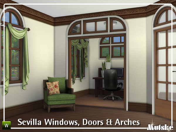 Sevilla Windows, Doors and Arches by mutske at TSR image 495 Sims 4 Updates