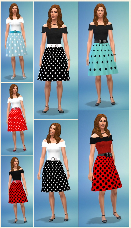 Lady's Dot Dress at Birksches Sims Blog image 4951 Sims 4 Updates