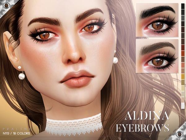 Sims 4 Aldina Eyebrows N113 by Pralinesims at TSR