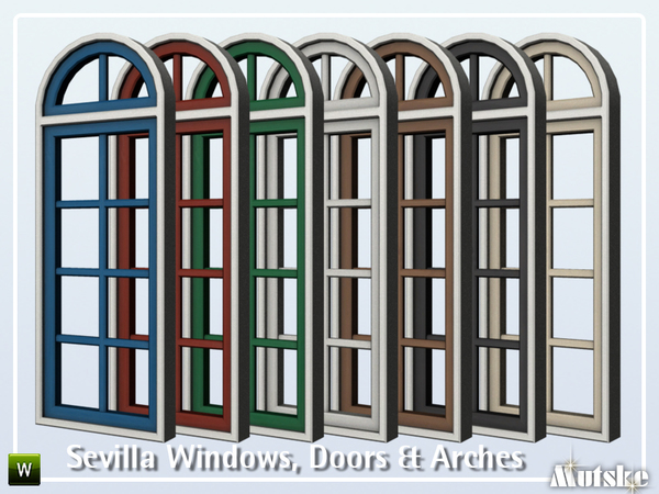 Sevilla Windows, Doors and Arches by mutske at TSR image 505 Sims 4 Updates