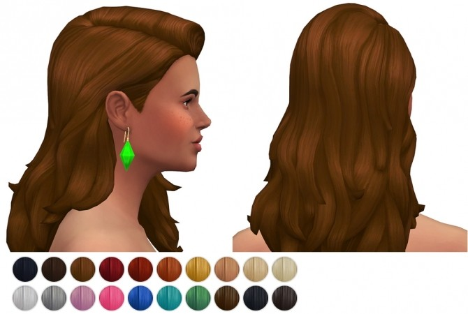 Sims 4 SP03 Long flipped hair edit at Rusty Nail