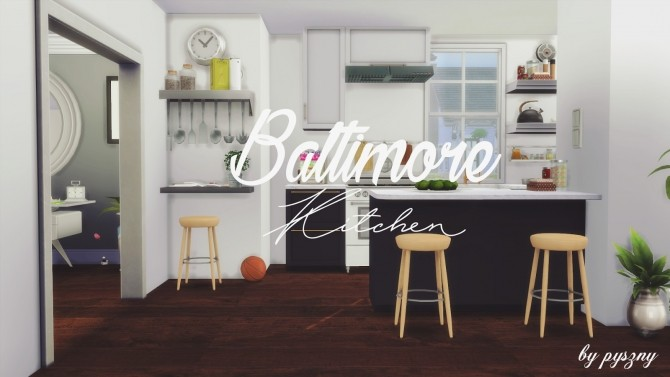 Baltimore kitchen new set at pyszny design sims 4 updates - Kitchen design baltimore ...