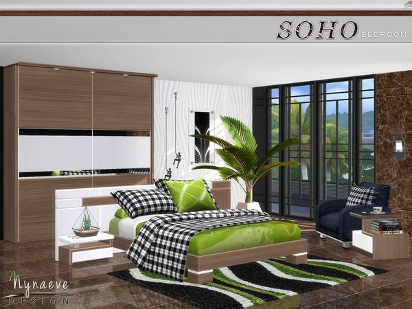 Sims 4 Soho Bedroom by NynaeveDesign at TSR