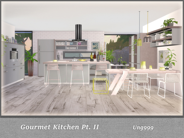 Sims 4 Gourmet Kitchen Pt. II by ung999 at TSR