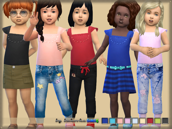 Sims 4 Shirt for Girls by bukovka at TSR