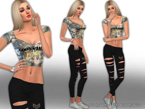 Sims 4 Trendy Outfits Vol 3 by Saliwa at TSR