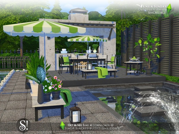 Like a Sunday garden set by SIMcredible at TSR image 5120 Sims 4 Updates