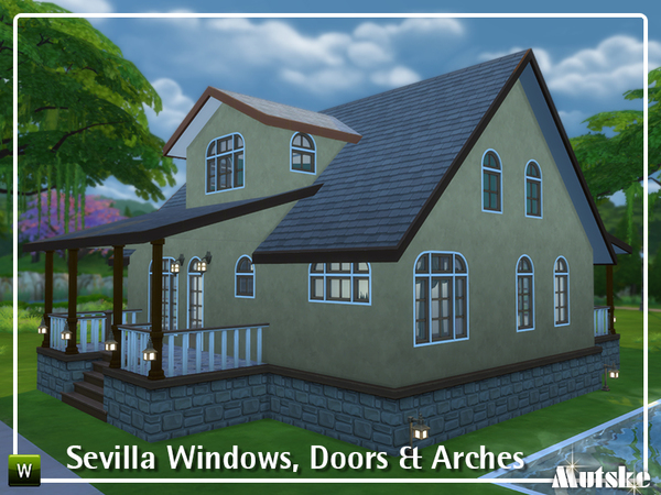 Sevilla Windows, Doors and Arches by mutske at TSR image 518 Sims 4 Updates