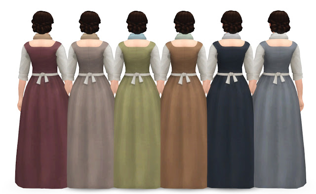 Sims 4 BAKERS WIFE DRESS at Historical Sims Life