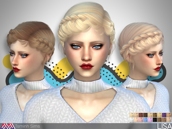 Lisa Hair 31 by TsminhSims at TSR image 525 Sims 4 Updates