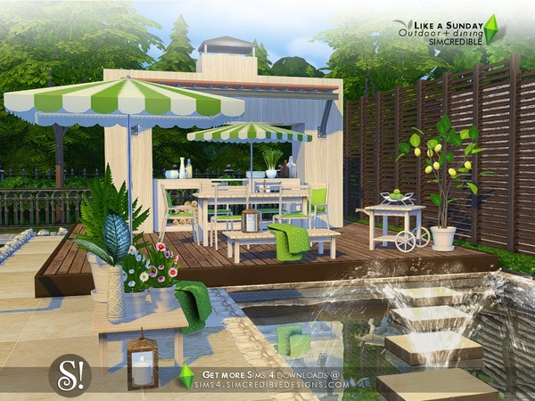 Like a Sunday garden set by SIMcredible at TSR image 5320 Sims 4 Updates
