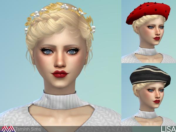 Sims 4 Lisa Hair 31 by TsminhSims at TSR
