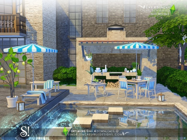 Like a Sunday garden set by SIMcredible at TSR image 5420 Sims 4 Updates