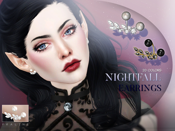 Nightfall Earrings by Pralinesims at TSR image 545 Sims 4 Updates