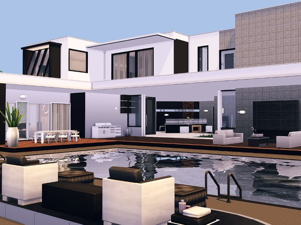Sims 4 Vogue Contemporary house by Torque at TSR