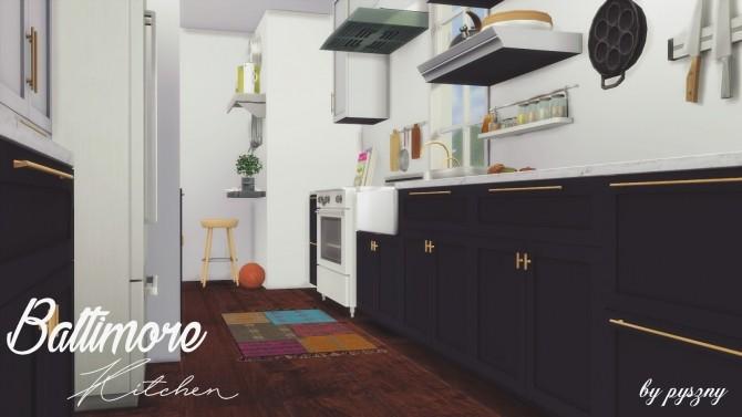 Sims 4 Baltimore Kitchen new set at Pyszny Design