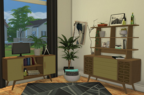 S3 to S4 BuffSumm 1950′s Livingroom 2 Sideboards & Upper Shelf at ChiLLis Sims image 5613 Sims 4 Updates