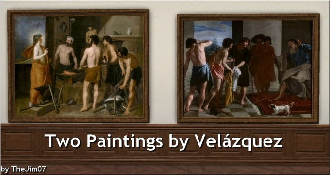 Sims 4 Two Paintings by Velazquez by TheJim07 at Mod The Sims