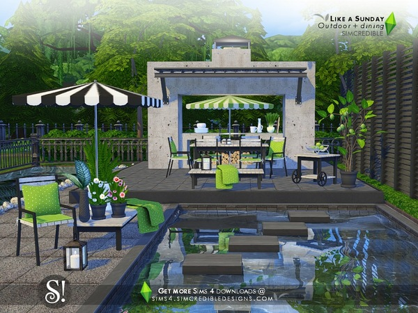 Like a Sunday garden set by SIMcredible at TSR image 5620 Sims 4 Updates