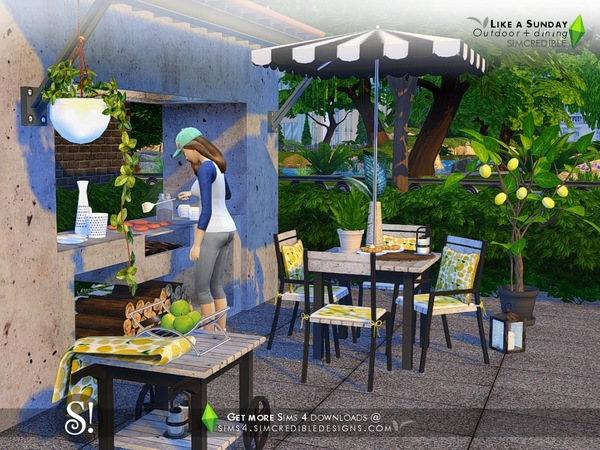 Like a Sunday garden set by SIMcredible at TSR image 5720 Sims 4 Updates