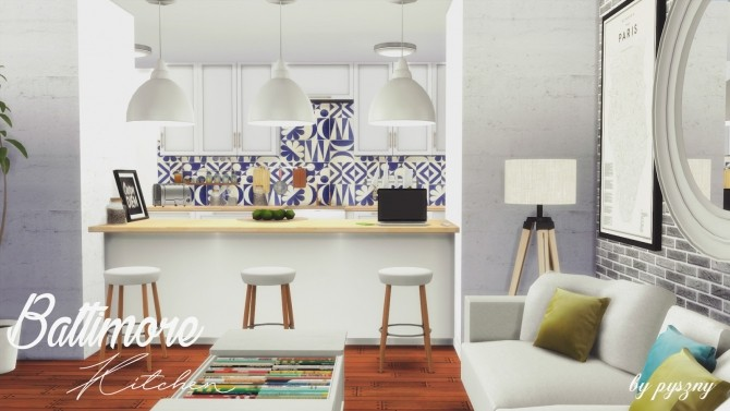 Baltimore Kitchen new set at Pyszny Design image 58 670x377 Sims 4 Updates