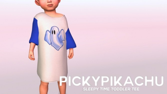 Sleepy Time Toddler Tee at Pickypikachu image 580 670x377 Sims 4 Updates
