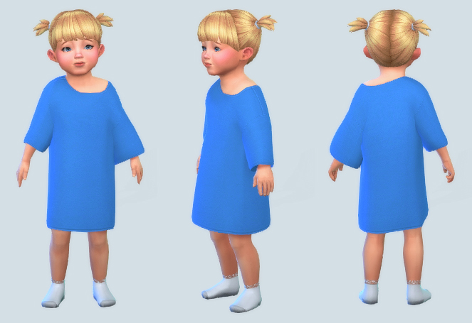 Sleepy Time Toddler Tee at Pickypikachu image 5811 Sims 4 Updates