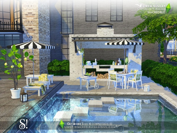 Like a Sunday garden set by SIMcredible at TSR image 5820 Sims 4 Updates